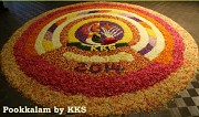 Some pictures from our Pookalam Competition held as part of our Onam 2014 program